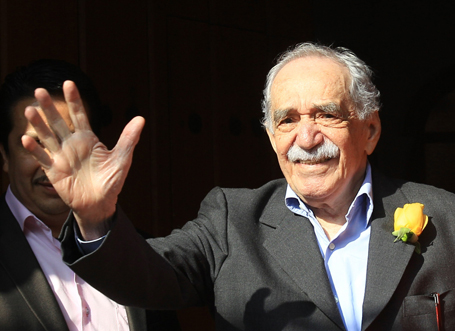 Colombian writer and Nobel prize winner Gabriel Garcia Marquez celebrates his 87th birthday