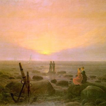 Caspar David Friedrich : Lever de lune sur la mer (1821)