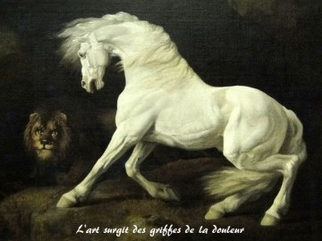 A Horse Frightened by a Lion George Stubbs Date: 1770