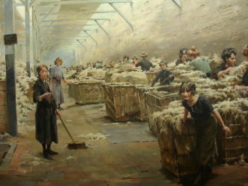 Théodore Gueldry : Scène de triage de la laine